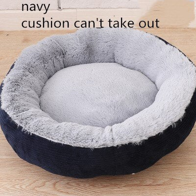 Image of Round Plush Dog Sofa