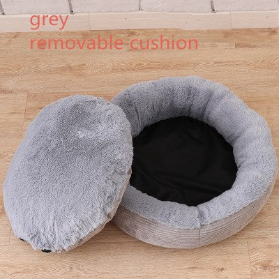 Round Plush Dog Sofa