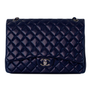 Chanel Classic Navy Jumbo Double Flap