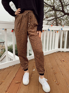 Leisurely Leopard Joggers