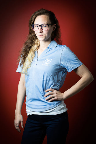 Women's Light Blue Golf Shirt