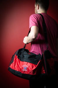 Red and Black Duffel Bag