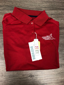 Women's Red Golf Shirt - 2016