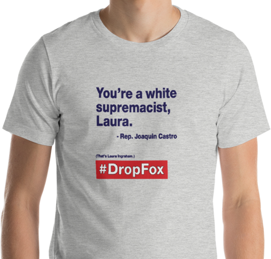 'You're a white supremacist, Laura.'  #DropFox