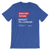 Save Our Future -> Boycott Fox and Limbaugh (dark shirt)