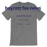 boycott fox news - unisex t-shirt