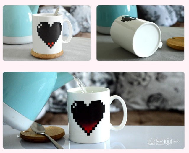 Creative Heart Magic Temperature Mug