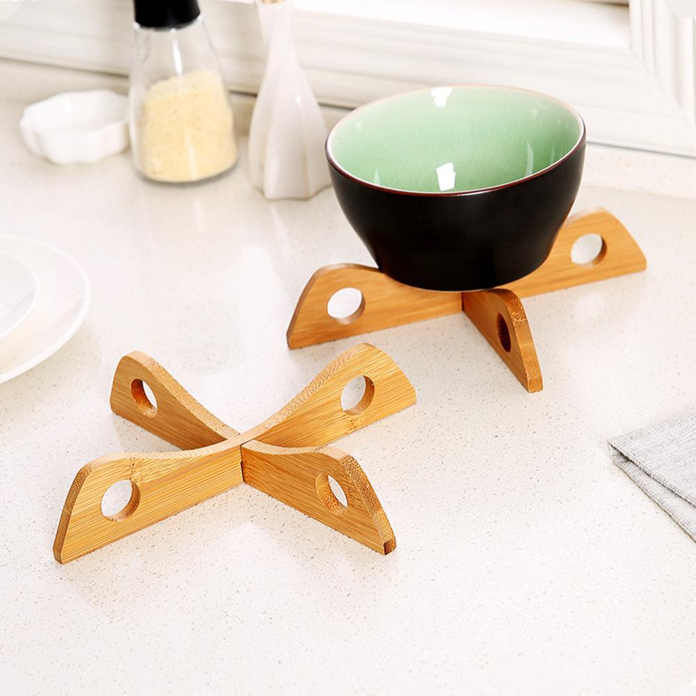 Wooden Cross Anti-scald Pad Bowl