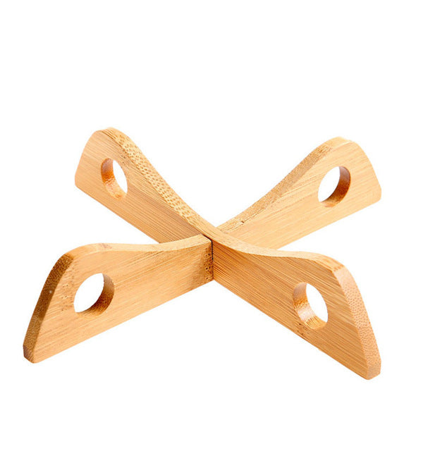 Wooden Cross Anti-scald Pad Bowl - Kitchen Things Plus