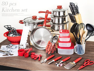 80 Piece Kitchen Starter Combo w/ Utensil