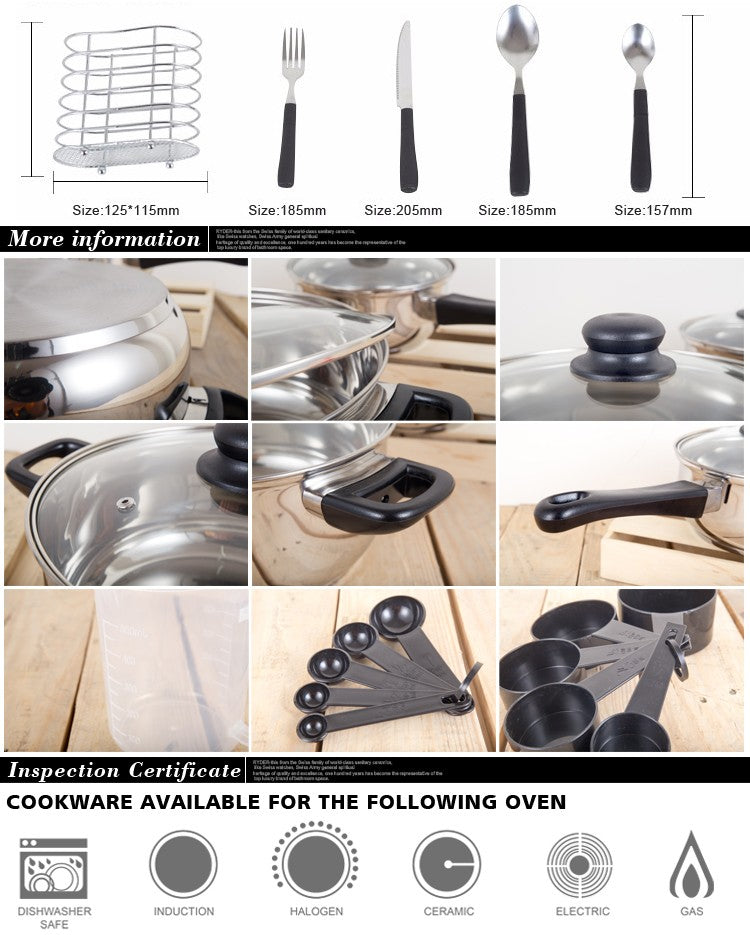 80 Piece Kitchen Starter Combo w/ Utensil - Kitchen Things Plus