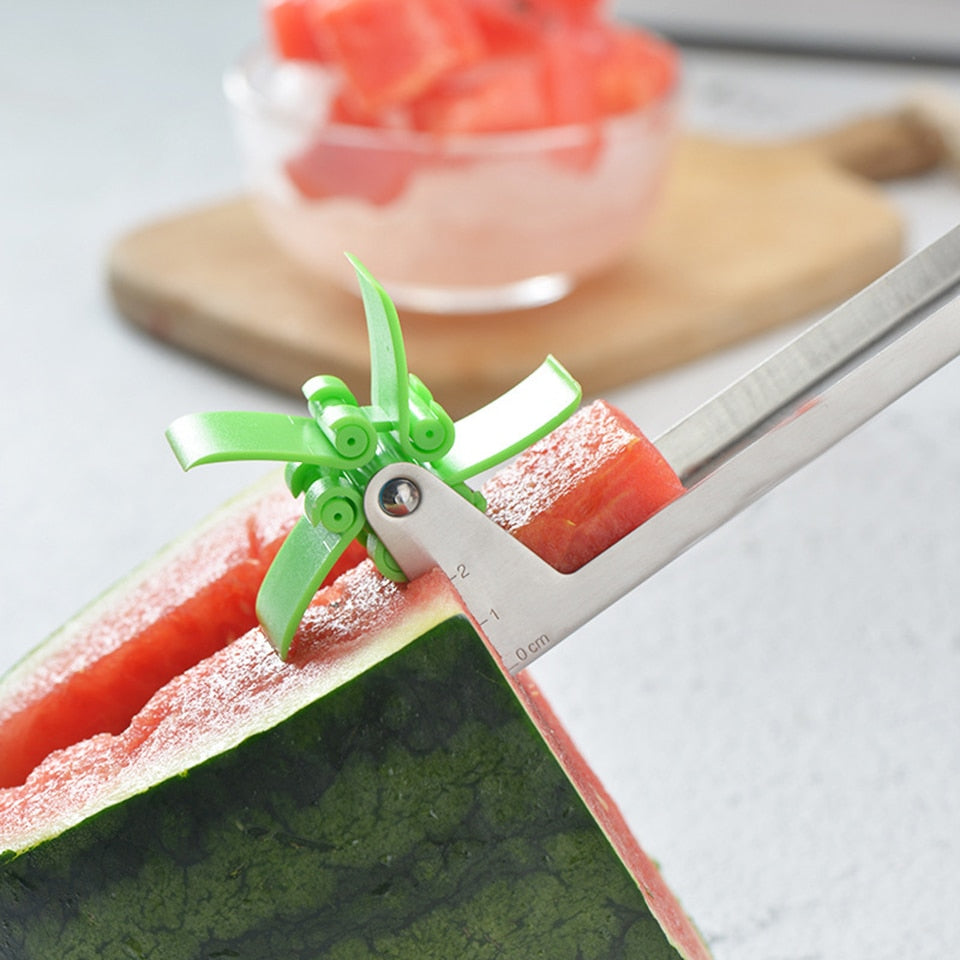 Windmill Watermelon Slicer Cutter Stainless Steel