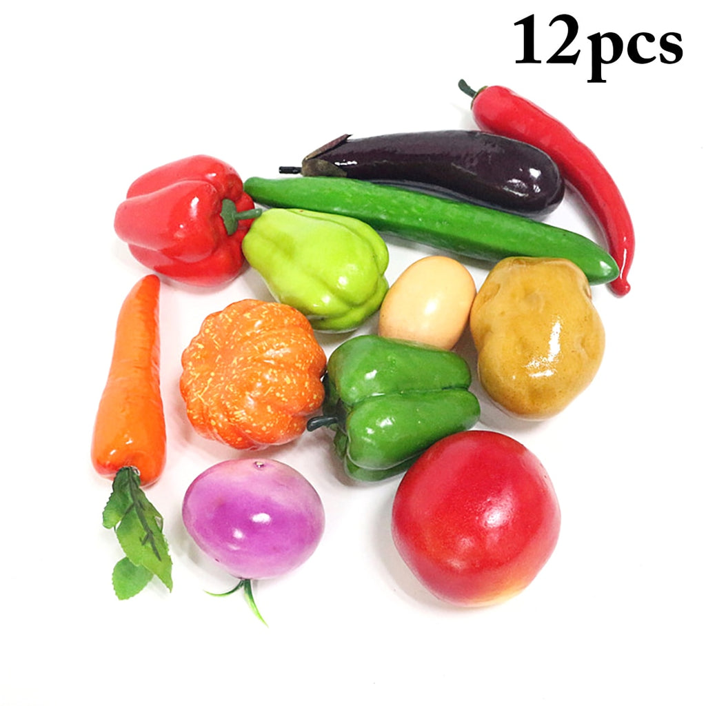 12PCS Artificial Lifelike  Vegetables
