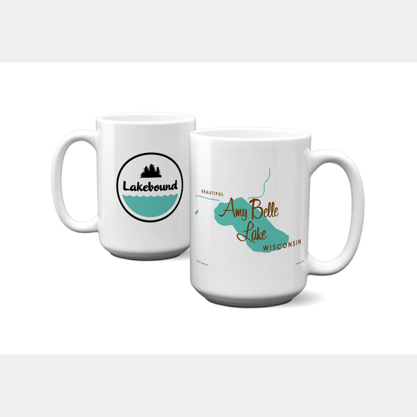 Amy Belle Lake Wisconsin, 15oz Mug