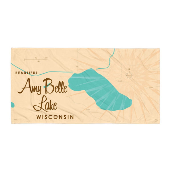 Amy Belle Lake Wisconsin Beach Towel