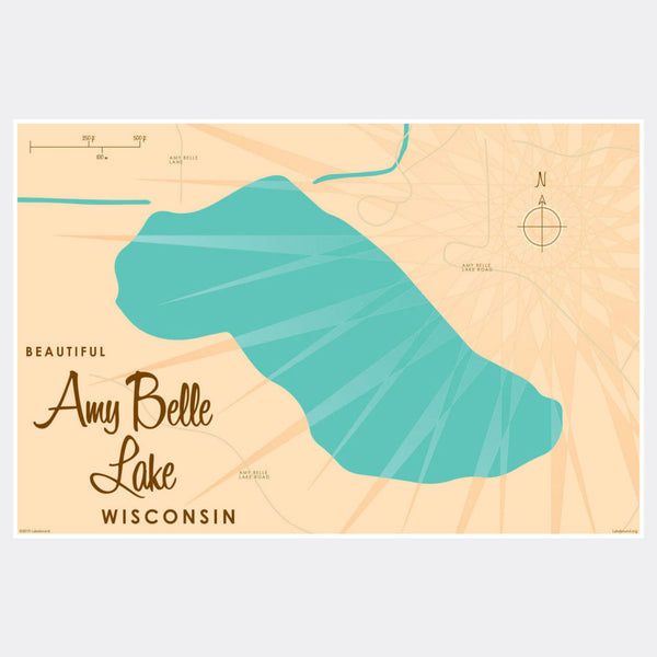 Amy Belle Lake Wisconsin, Paper Print