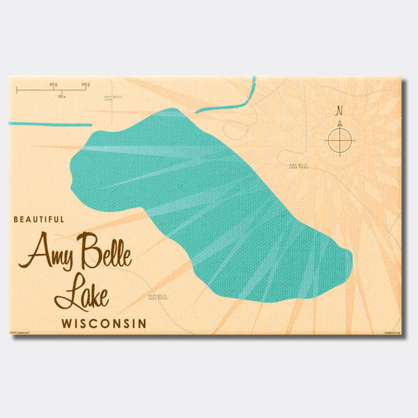 Amy Belle Lake Wisconsin, Canvas Print