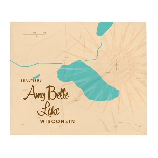 Amy Belle Lake Wisconsin Throw Blanket