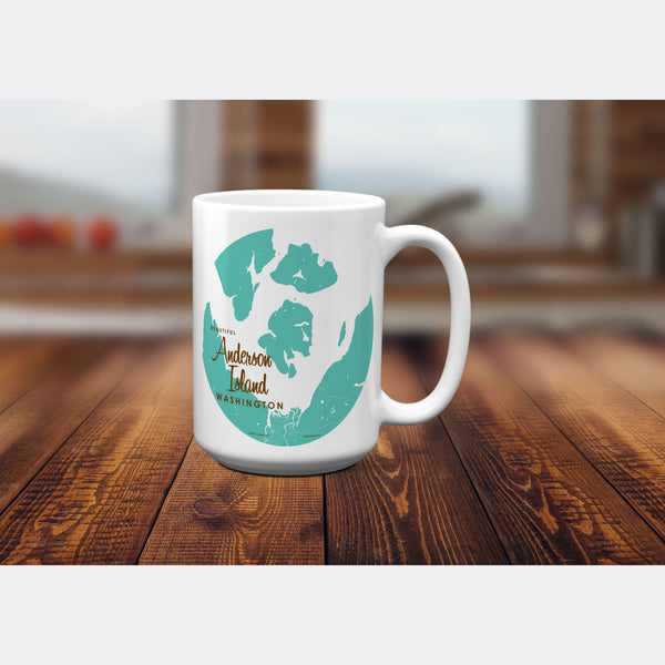 Anderson Island Washington, 15oz Mug