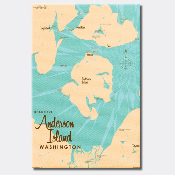 Anderson Island Washington, Canvas Print