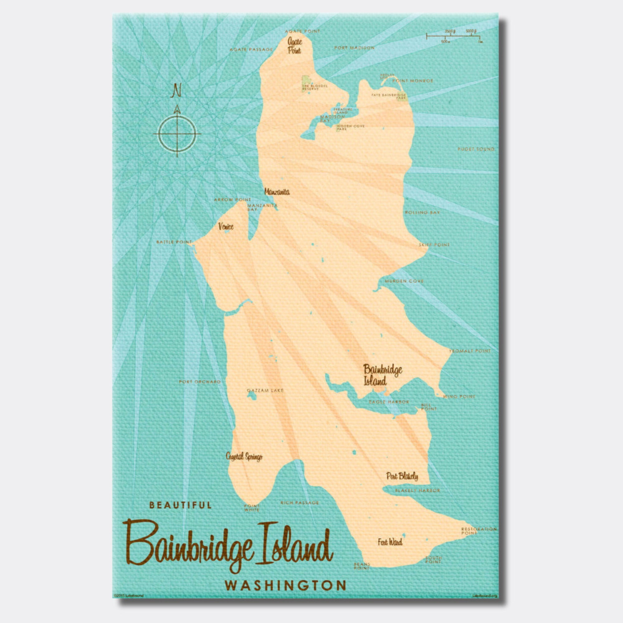 Bainbridge Island Washington, Canvas Print
