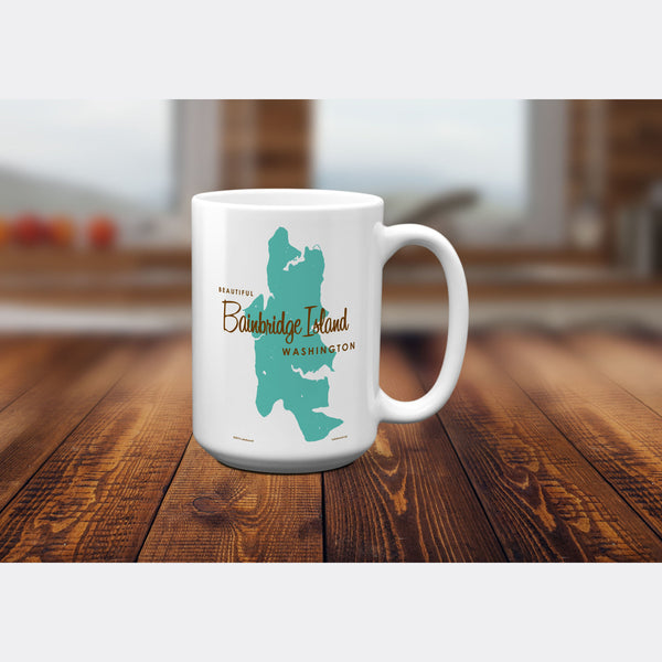 Bainbridge Island Washington, 15oz Mug