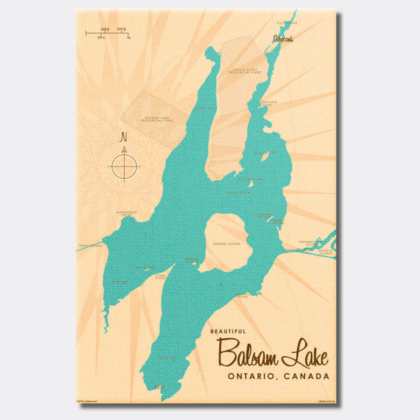 Balsam Lake Ontario, Canvas Print