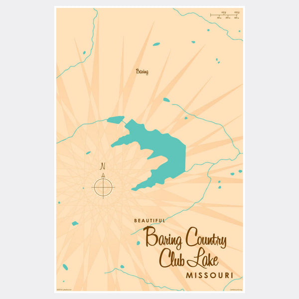 Baring Country Club Lake Missouri, Paper Print