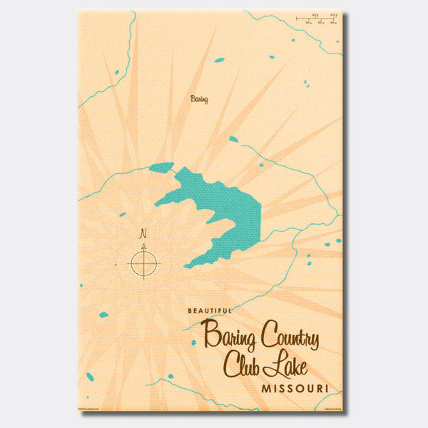 Baring Country Club Lake Missouri, Canvas Print
