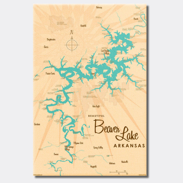 Beaver Lake Arkansas, Canvas Print