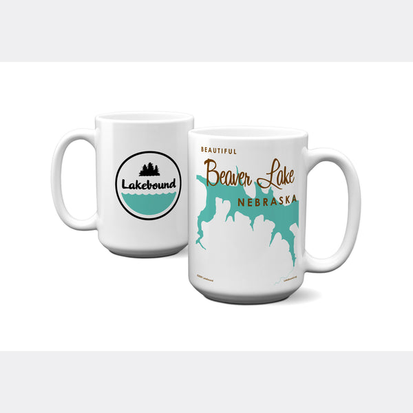 Beaver Lake Nebraska, 15oz Mug