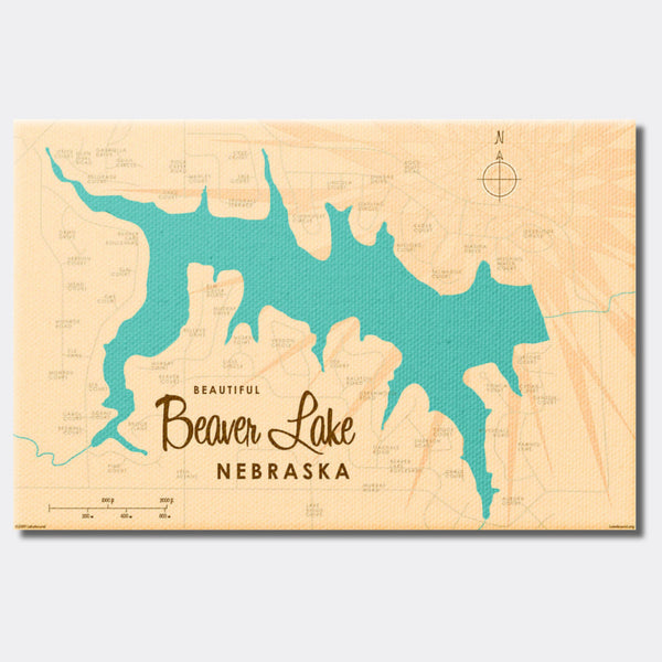 Beaver Lake Nebraska, Canvas Print