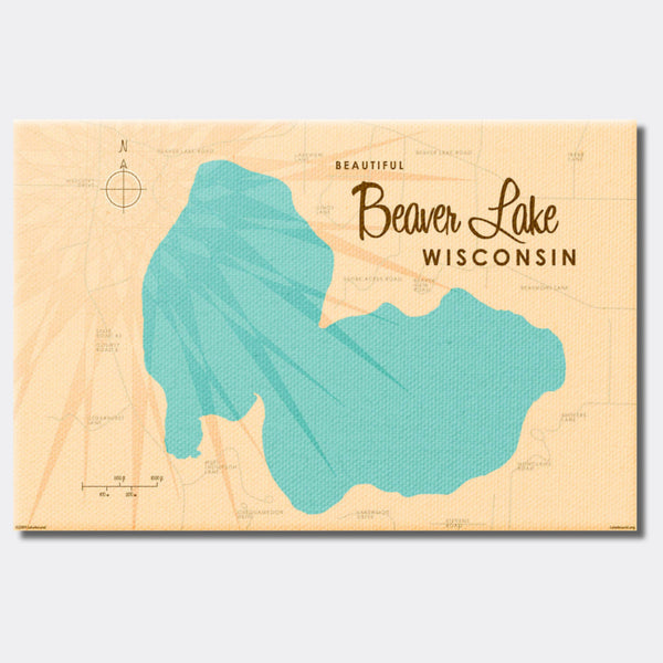 Beaver Lake Wisconsin, Canvas Print