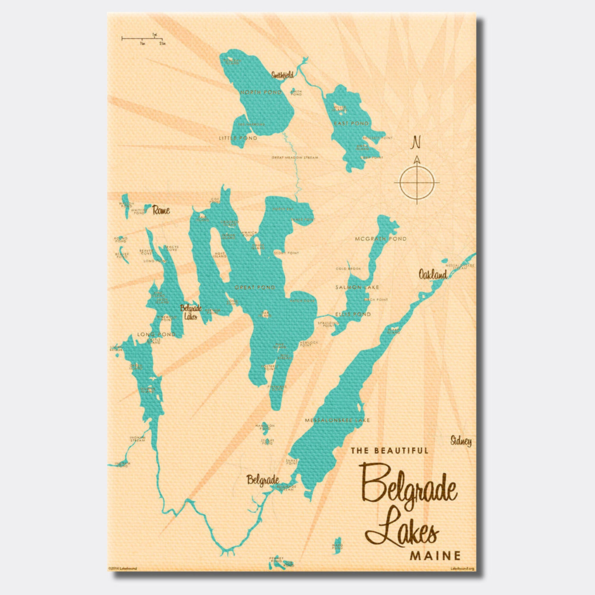 Belgrade Lakes Maine, Canvas Print