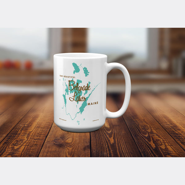 Belgrade Lakes Maine, 15oz Mug