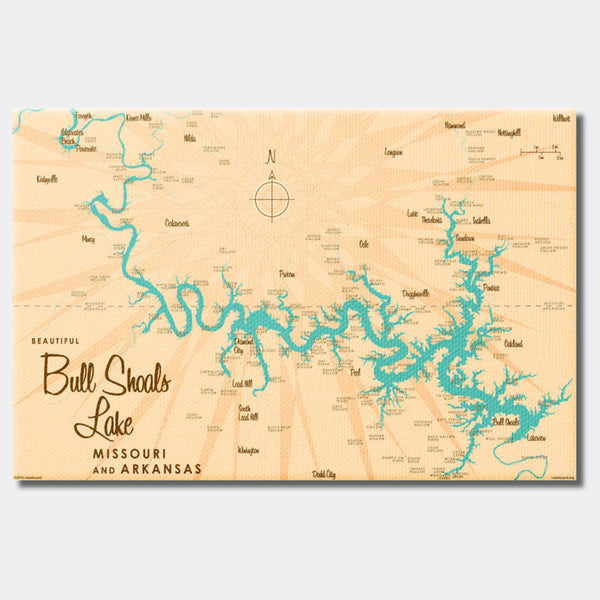 Bull Shoals Lake MO Arkansas, Canvas Print