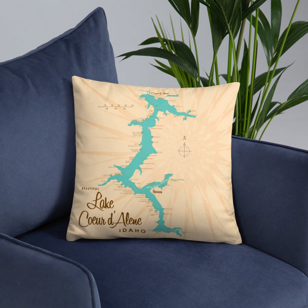 Lake Coeur d'Alene Idaho Pillow