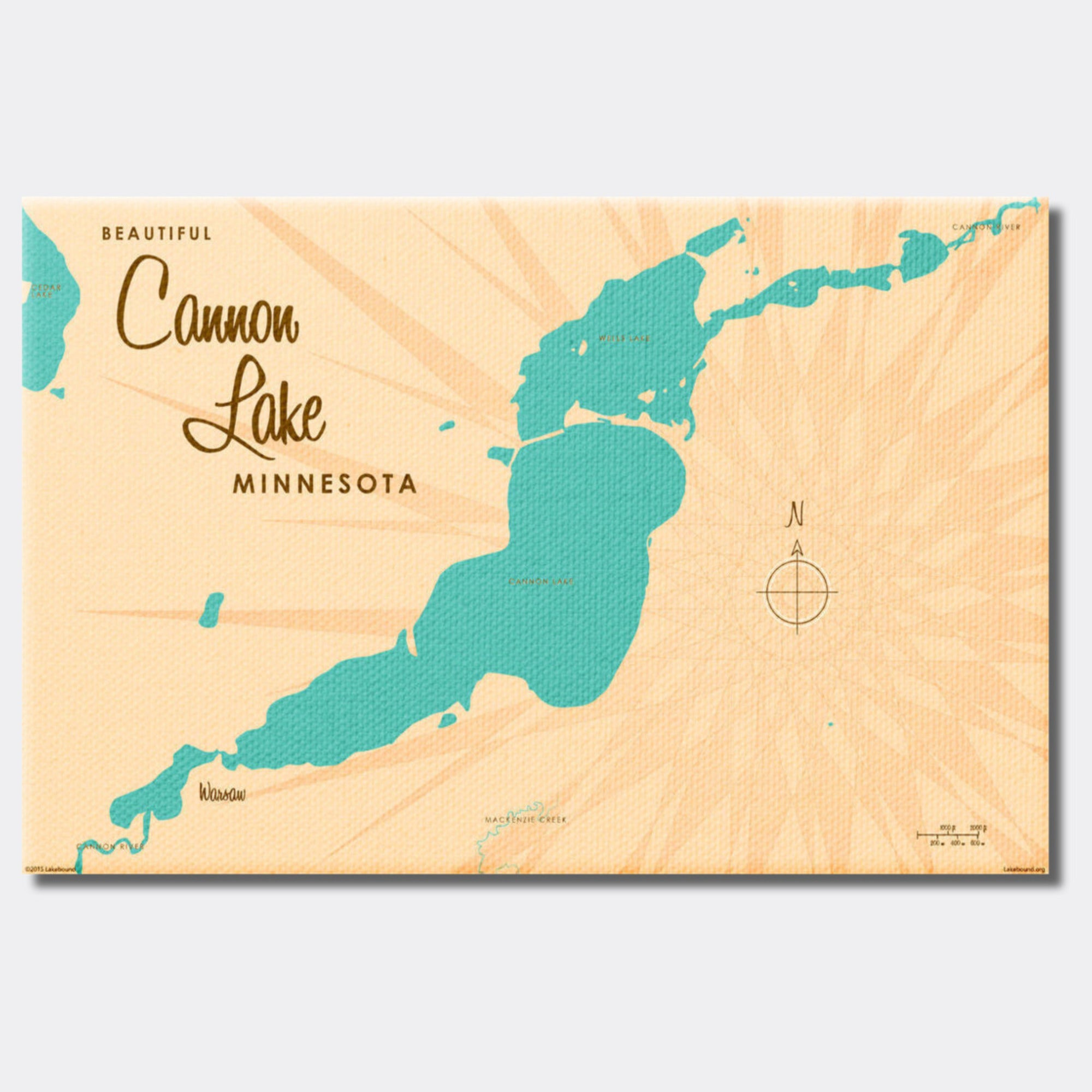 Cannon Lake Minnesota, Canvas Print