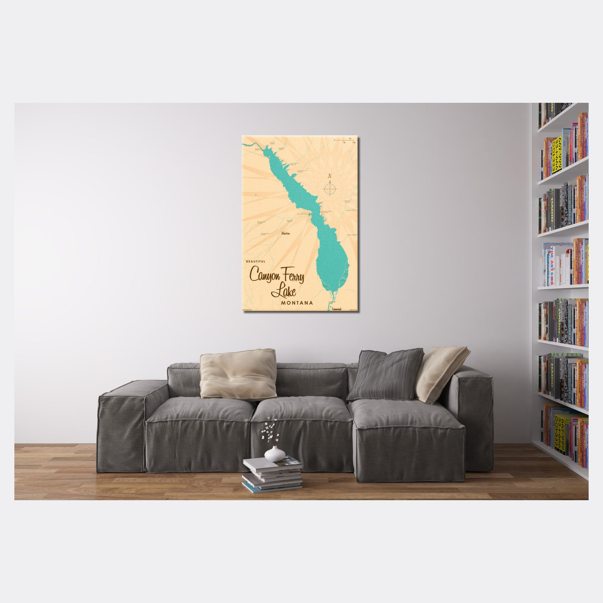 Canyon Ferry Lake Montana, Canvas Print