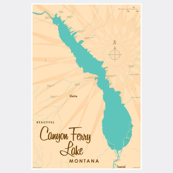Canyon Ferry Lake Montana, Paper Print