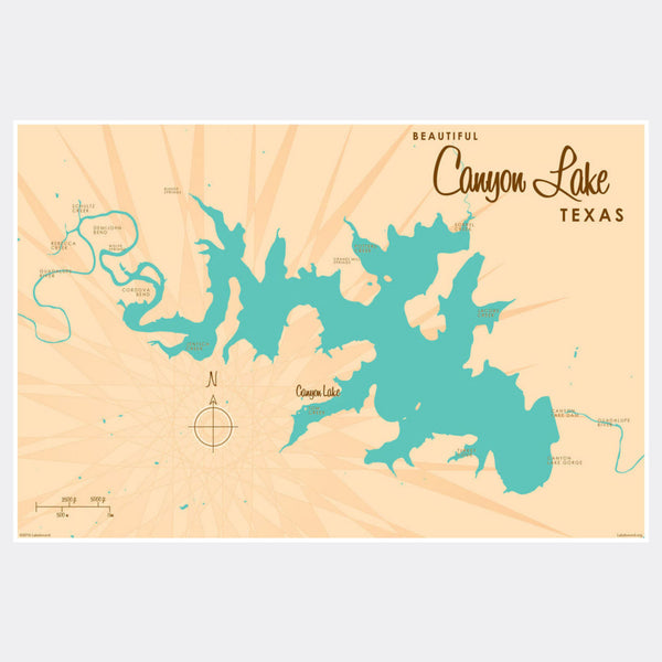 Canyon Lake Texas, Paper Print