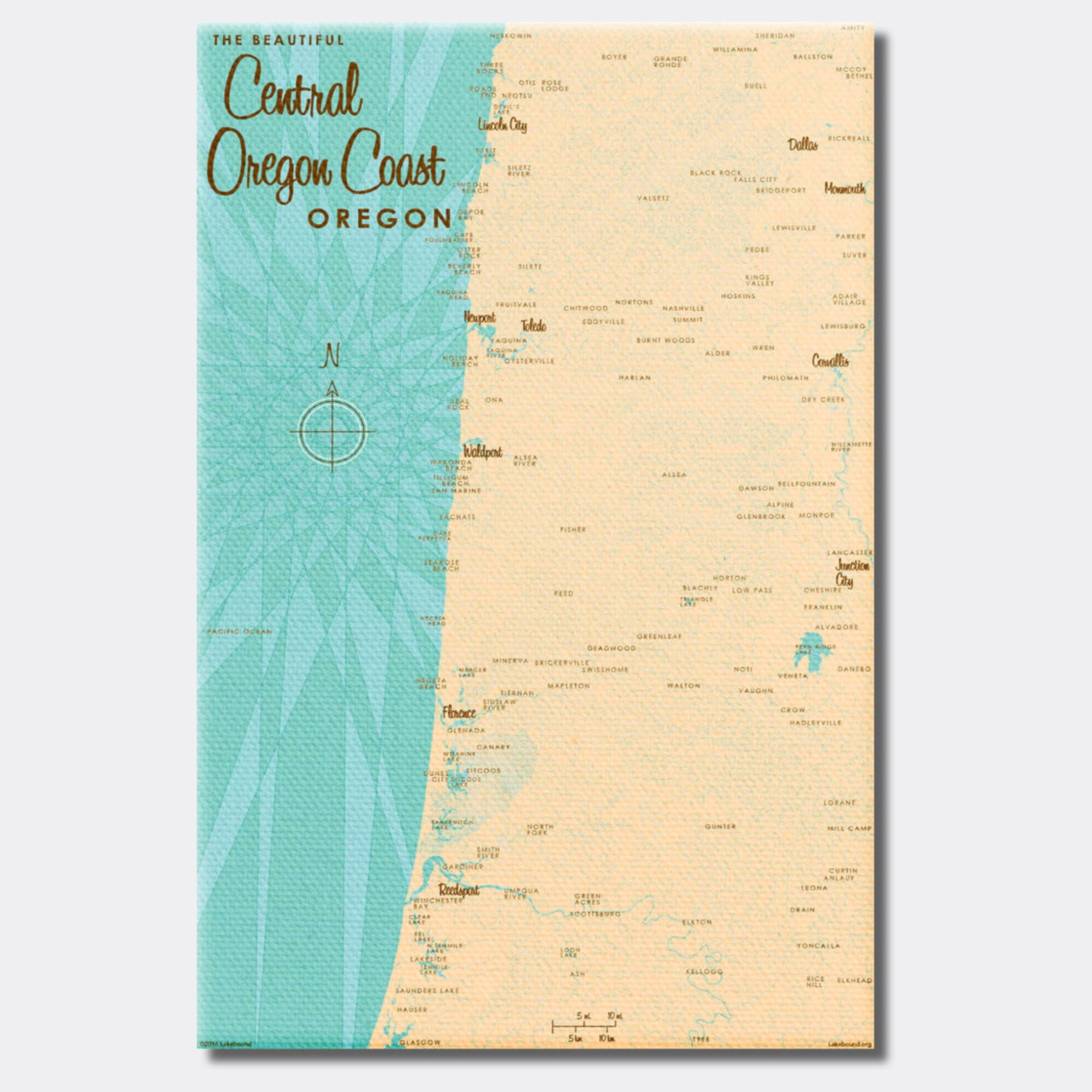 Central Oregon Coast, Canvas Print
