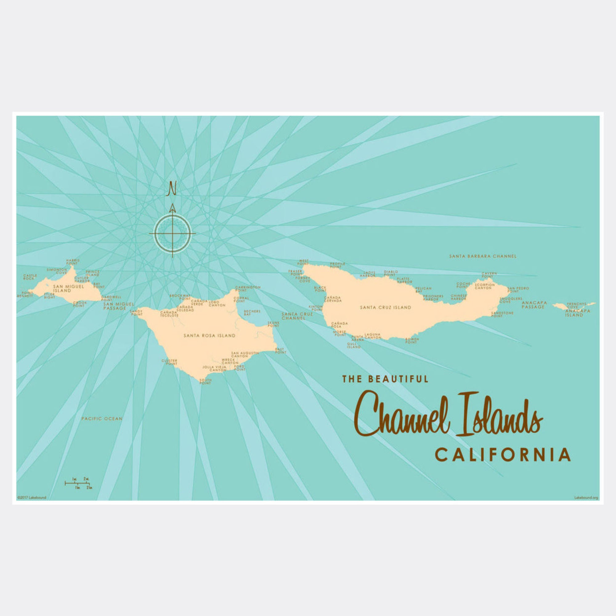 Channel Islands California, Paper Print