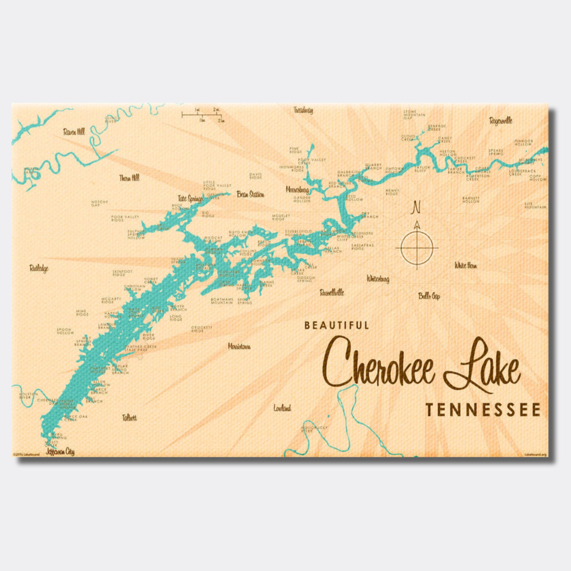 Cherokee Lake Tennessee, Canvas Print