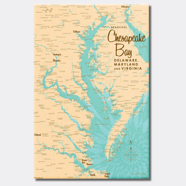 Chesapeake Bay MD Virginia, Canvas Print