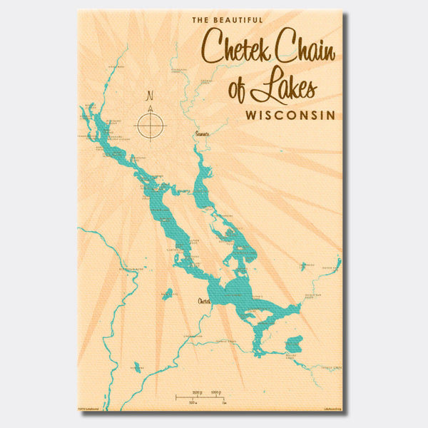 Chetek Chain of Lakes Wisconsin, Canvas Print