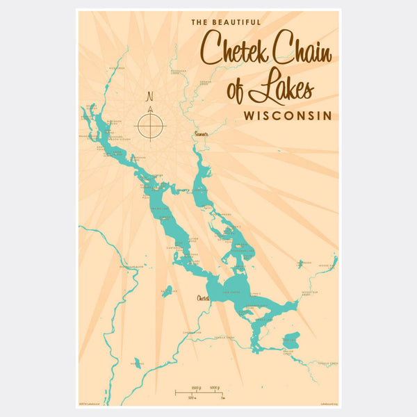 Chetek Chain of Lakes Wisconsin, Paper Print