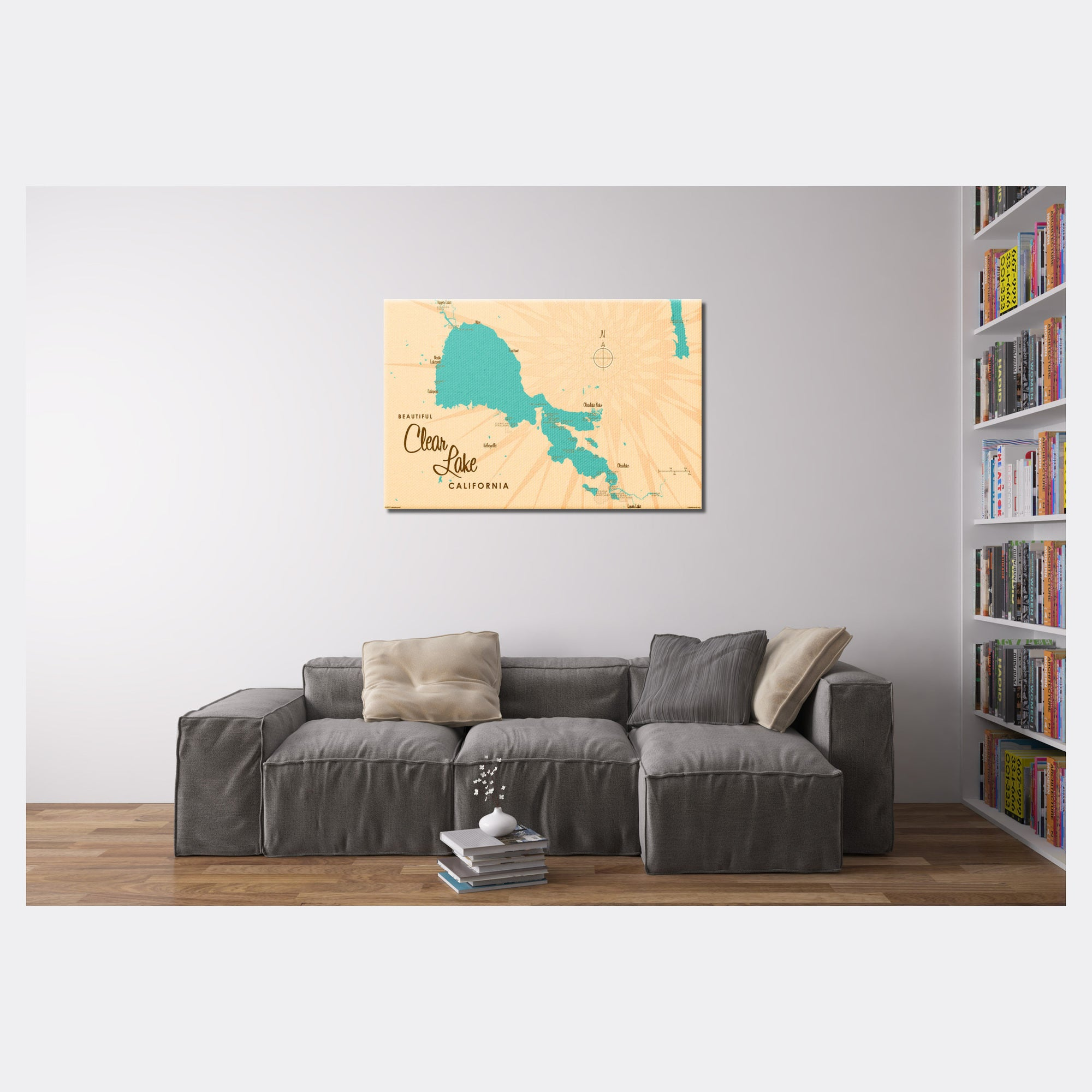 Clear Lake California, Canvas Print