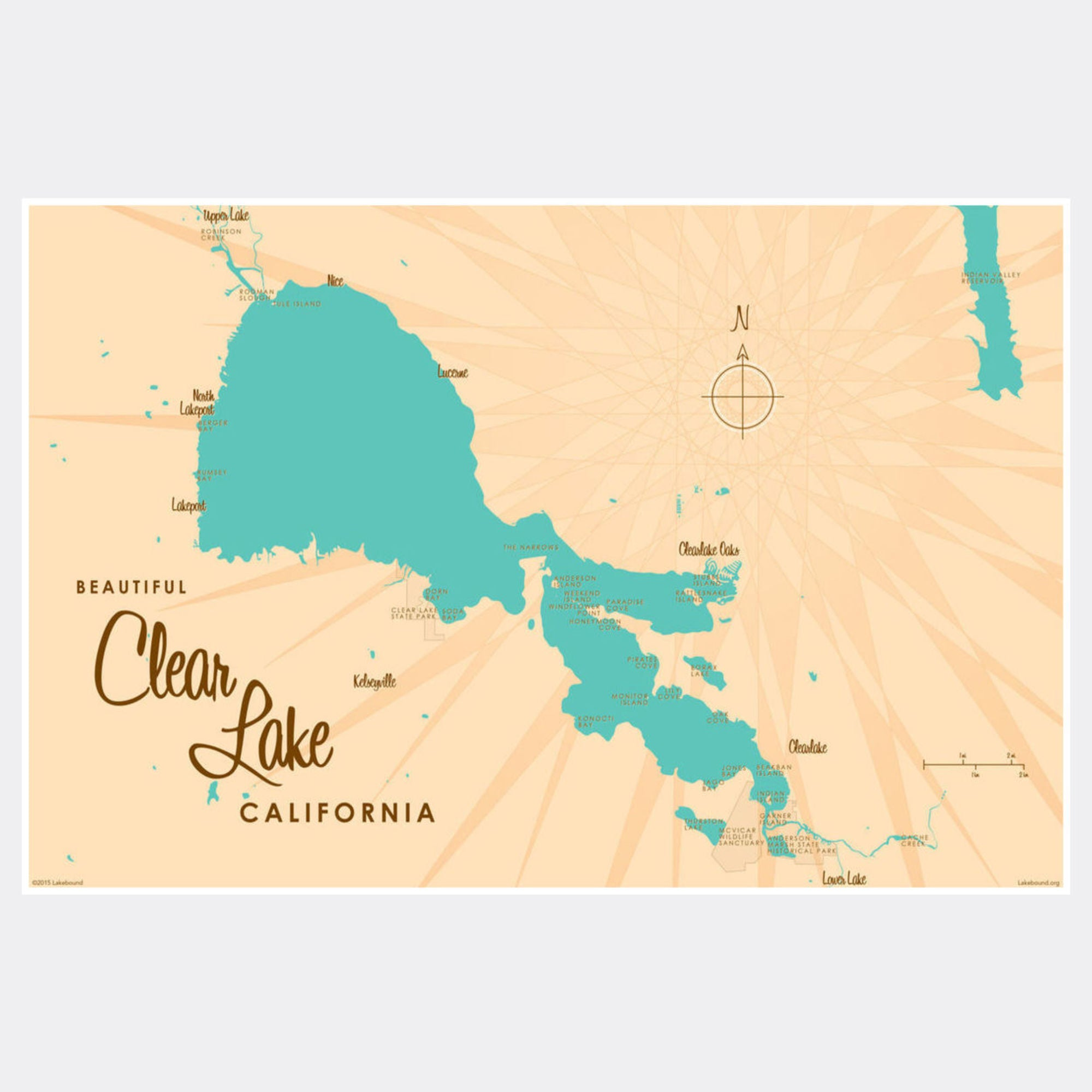 Clear Lake California, Paper Print – Lakebound on