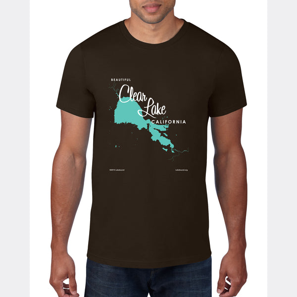 Clear Lake California, T-Shirt Map Art